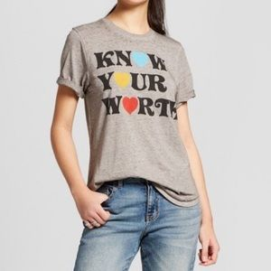 Mighty Fine Gray Know Your Worth Tshirt